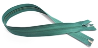 "Marine Green Open and Close Zip By Rubi 60cm (23.5"")"