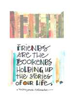 Friends are the Bookends Greeting Card