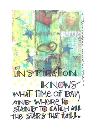 Inspiration Knows Greeting Card