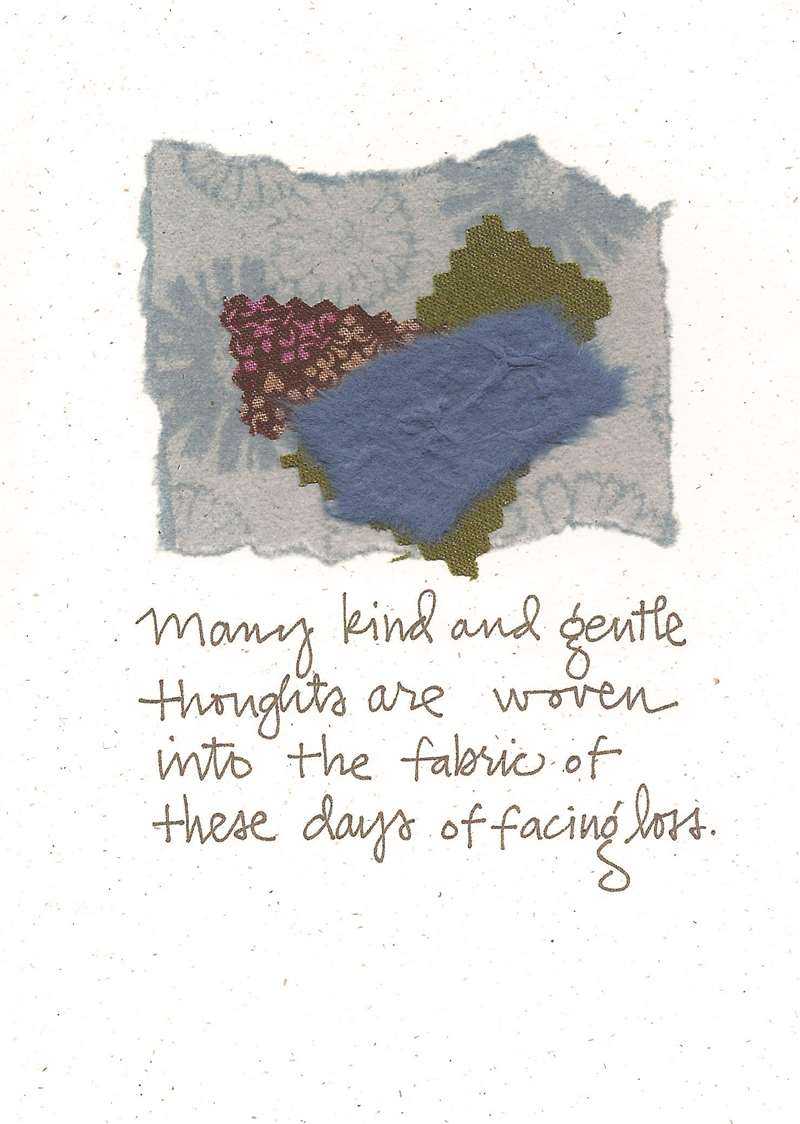 Kind And Gentle Thoughts Greeting Card
