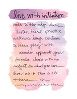 Live With Intention Greeting Card