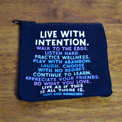 Live With Intention Zippered Pouch--Small