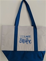 I come to the lake Tote, Large/Royal Blue