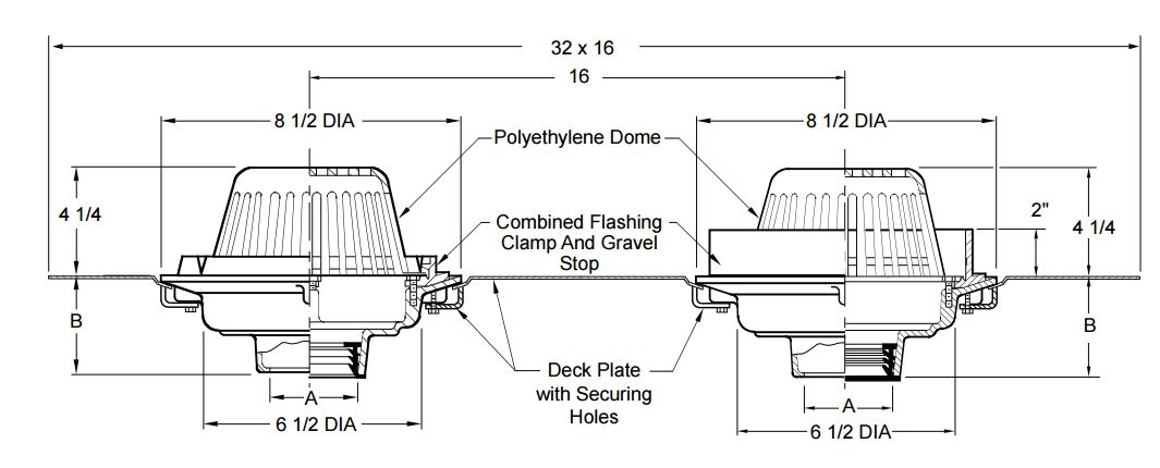 configured - Roof Drain
