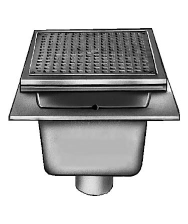 Jay r smith 3110 sanitary floor sink with 12 square top 6 sump tyukafo