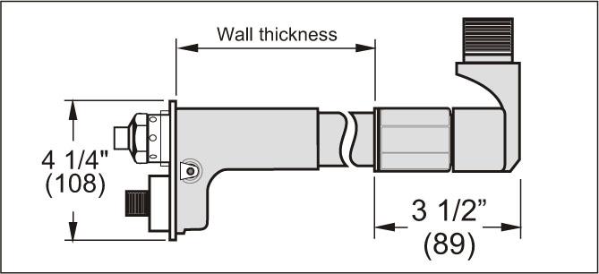 Mifab MHY-9240 MHY-92 Series Hose Bib Self Draining Non-Freeze Wall Hydrant