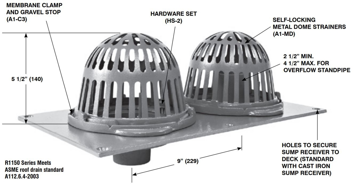 Roof Drain Dome