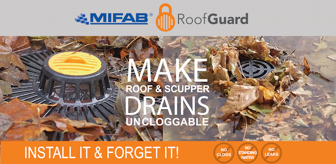 Mifab R1270-RG Combined Large Sump Cast Iron Roof Drain with Secondary  Overflow and 19