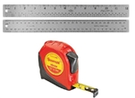 "Steel ruler 12"", calibrated"