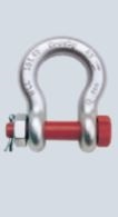 Pair of Green Pin (G-4163) 3.25t Standard Safety Anchor Shackles