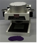 "King pneumatic sample cutter, 6"" dia cylinder, with 2.6974"" dia blade and 100 3.62"" sq cutting pads"