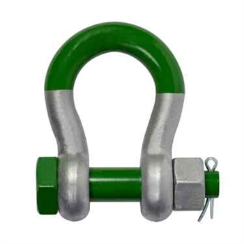 Pair of Green Pin (G-5263) 150t SUPER ALLOY Safety Anchor Shackles