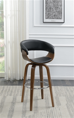 Black & Walnut Retro Style Bar Stool