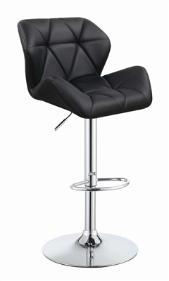 Modern Black & Chrome Bar Stool (Set of 2)