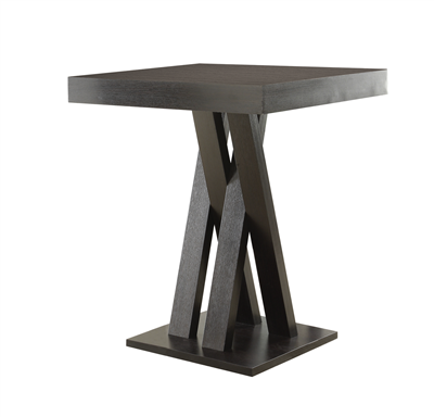 Lampton Contemporary Cappuccino Bar Height Table