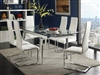 5 Piece Modern Glass & Chrome Dining Set