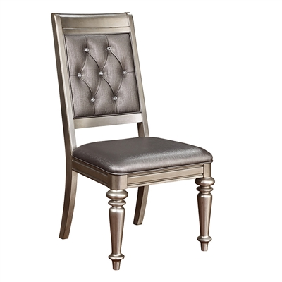 Traditional Glam Style Dining Side Chair