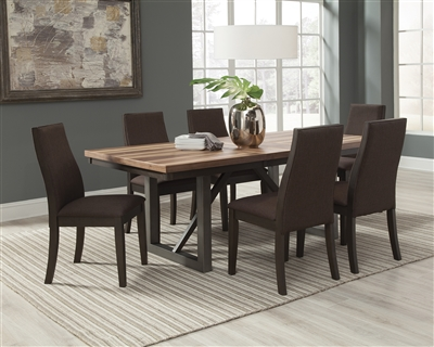 Natural Finish Open Grain Dining Set