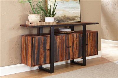 Jamestown Live Edge Server Dining Server in Solid Grey Sheesham Wood