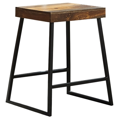 Mindo Backless Counter Height Stool Warm Chestnut And Matte Black - Coaster
