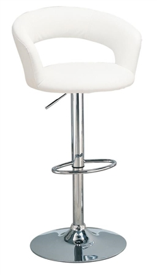 29″ Adjustable Height Bar Stool White And Chrome - Coaster