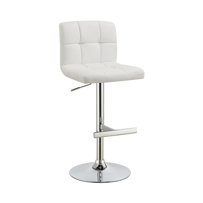 Adjustable Height Bar Stools Chrome And White (Set Of 2) - Coaster