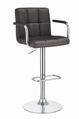 Transitional Style Tufted Leatherette Bar Stool