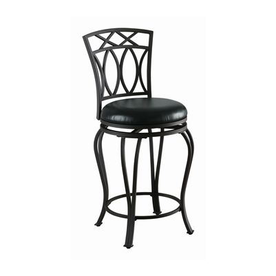 Upholstered Swivel Counter Height Stool Black - Coaster