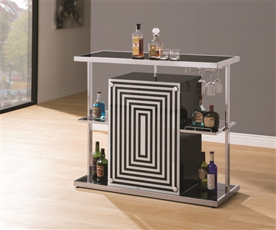 Ultra Contemporary Geometric Design Bar Unit
