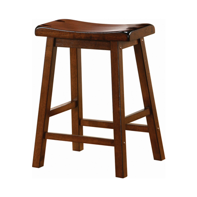 Wooden Counter Height Stools Chestnut (Set Of 2)