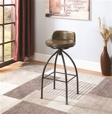 Erran Industrial Bar Stool