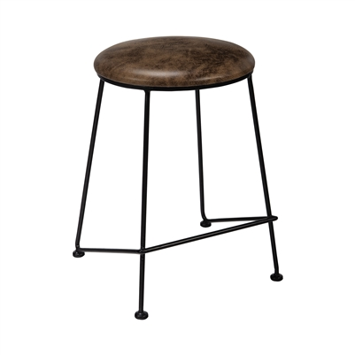 Counter Height Stool Saddle And Dark Gunmetal - Coaster
