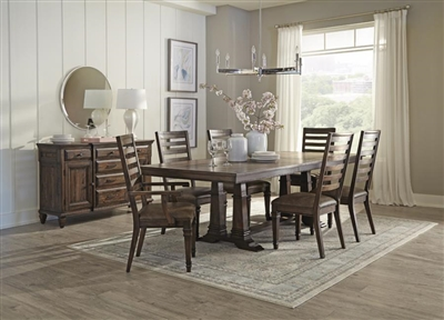 Avenue 7pc Rustic Traditional Style Dining Set - Coaster 192741