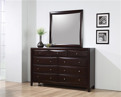 Phoenix Collection Cappuccino Finish Dresser