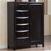 6-Drawer Standing Chest with Storage Door