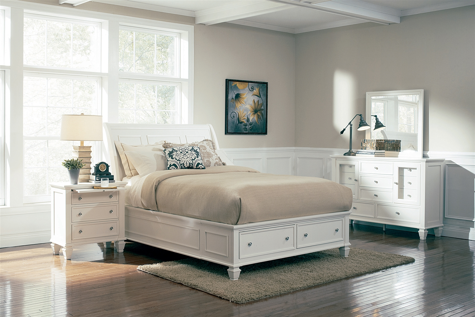 beach cottage decor.htm cottage style platform storage bed available in several colors 201309  cottage style platform storage bed