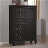 Sandy Beach Coastal Cottage Collection Door chestin Deep Black