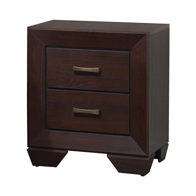 Holt Collection Shabby Chic Style 2 Drawer Nightstand