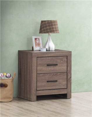 Marion 2-Drawer Nightstand in Barrel Oak