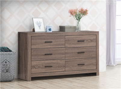 Marion 6-Drawer Dresser in Barrel Oak