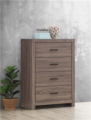Marion 4-Drawer Chest in Barrel Oak