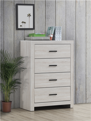Marion Coastal White Finish 5-Drawer Chest - Coaster 207055