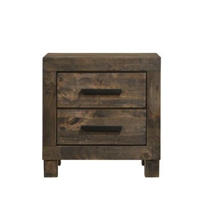 Rustic Solid Wood Nightstand