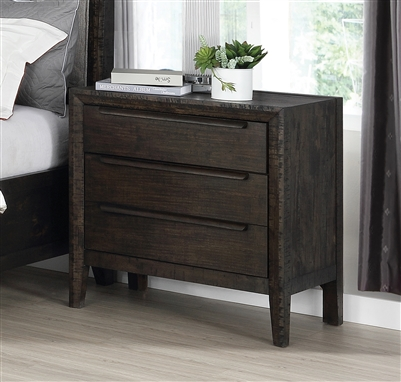 Malvern 3-Drawer Nightstand French Press