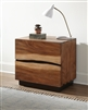 Winslow Rustic Smoky Walnut Finish Nightstand by Coaster Furniture