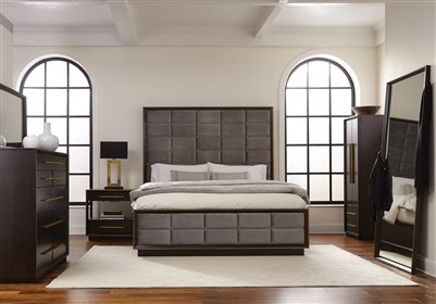 Durango Smoked Peppercorn & Gray with Gold Finish Bedroom Collection