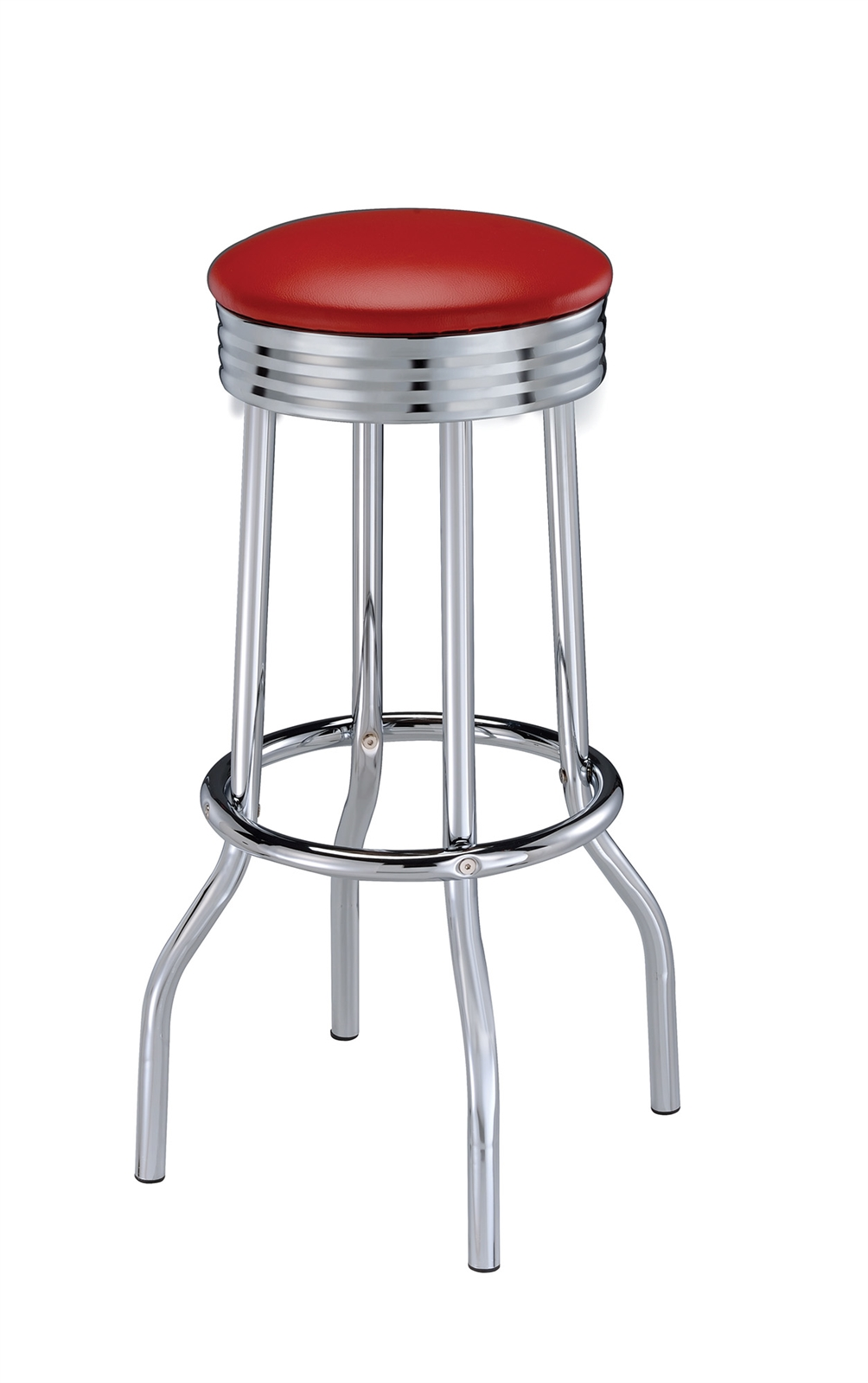 Retro Style Swivel Bar Stools with Chrome Bases & Variety Of Seat Colors