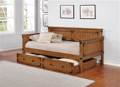 Brandon Rustic Honey Finish Twin Daybed