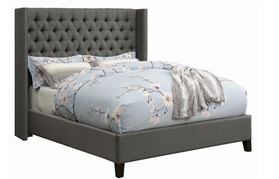 Benicia Upholstered Bed by Scott Living in Gray