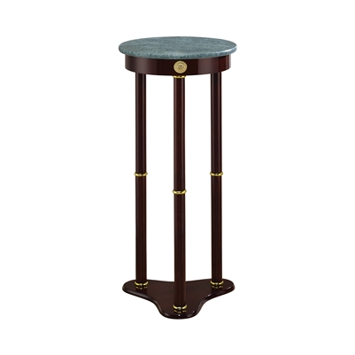 Round Marble Top Accent Table Merlot - Coaster 3315